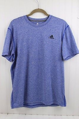 Adidas Men's Size L Ultimate Tee Climalite Heathered Blue Short Sleeve Athletic