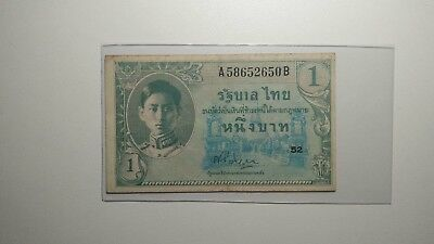 Thailand 1946 Series IX 1 Baht P-63 signed 22 Condition VF+#2