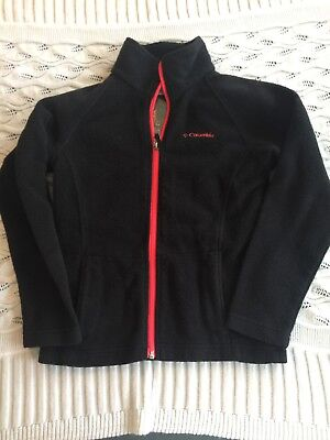 Girls Size Small 7/8 Columbia Full Zip Fleece Jacket