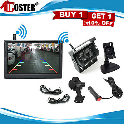 Wireless Rear View Parking Kit 4.3 Inch Monitor 18 IR CCD Reversing Camera Truck