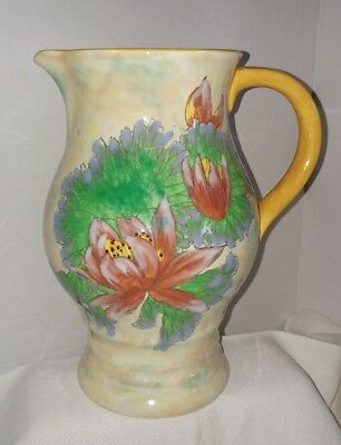 Royal Doulton Large Handpainted Ptcher Vase Water Lilly coll. numbered & signed
