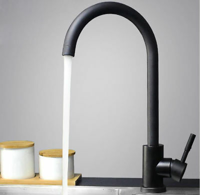 Bathroom Kitchen Sink Faucet Swivel Stainless Steel 304 Hot Cold Spout Mixer Tap