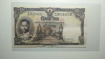 Thailand Series IX 5 Baht black numeric#P-75d.2 signed 38 Condition VF rare