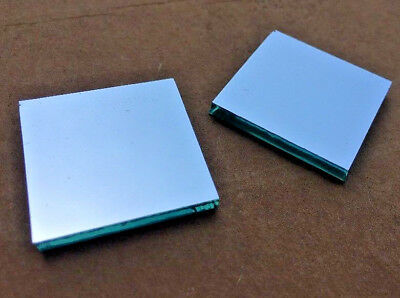 """2 pcs. First Surface Mirror 1"""" Square 1x1 aluminized 1/8"""" glass FS FSM front"""