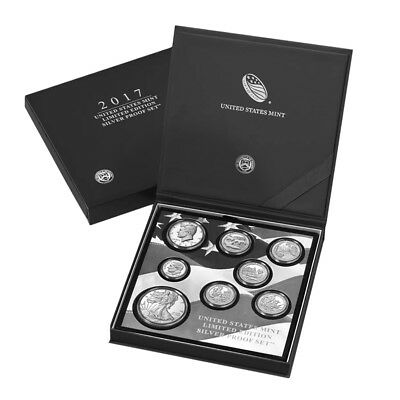 2017 S US Mint Limited Edition Silver Proof 8-Coin Set ASW 2.34 oz w/Box and COA