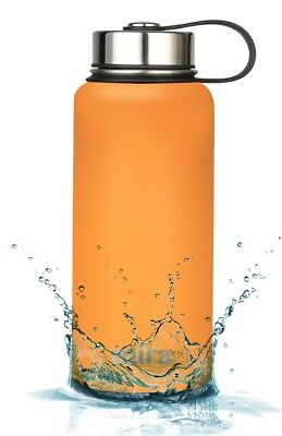 MIRA Insulated Double Wall Vacuum Stainless Steel Water Bottle 32 oz Pumpkin