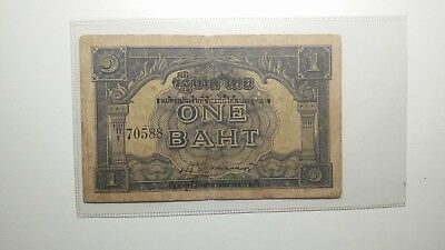 Thailand 1945-46 ND Provisional Issue#P-62 Aa signed 23 Condition VF Vere Rare