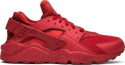 cf3b5ee923a3 Nike Air Huarache Mens 318429-660 Varsity Triple Red Running Shoes Size 8