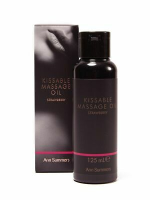 Ann Summers Kissable Massage Oil 125ml Strawberry Sex Foreplay Lubricant Lube