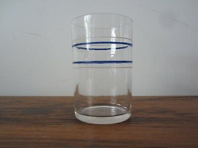 Vintage Swanky Swig 1933 Band Striped Juice glass- Collectible Retro Kitchen