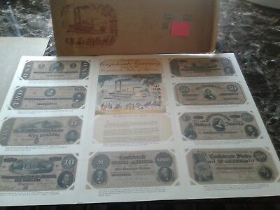 Reduced! General Mills 1954 Cheerios Confederate Money Album  Mint $1& Up