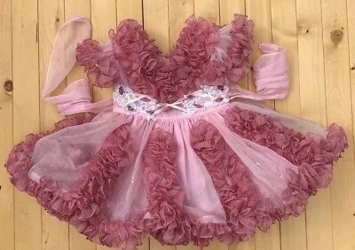 Vintage Joy Belle Ruffle Pink Dress