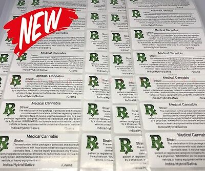 ALL STATES Medical Cannabis Dispensary Labels - 100 Labels - (3x1)