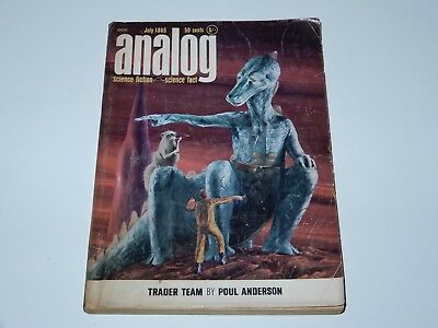 Analog Science Fiction July 1965 Trader Team Poul Anderson Sf