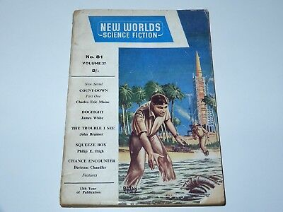 NEW WORLDS SCIENCE FICTION VOL 27 No 81 MARCH 1959 MAINE WHITE BRUNNER SF