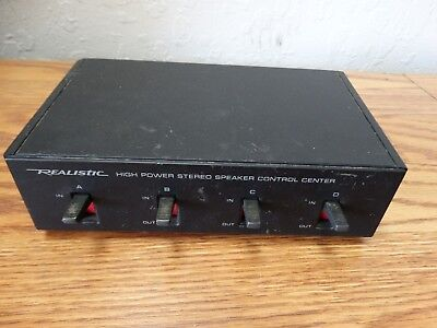 Radio Shack / Realistic High Power Stereo Speaker Control Center Cat. No. 40-136