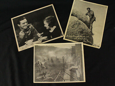 "Lot of 3 Vintage Tom Mix Ralston Wheat Cereal Advertising Press Photos 8x10"" B&W"