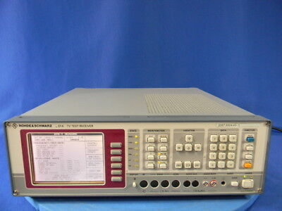 Rohde & Schwarz EFA TV Test Receiver with options B3, B11, B12,and B13