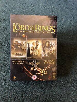 Lord of the Rings the motion picture trilogy original unopened packaging