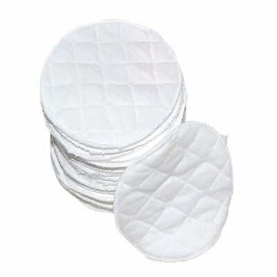 5X(20 pcs Ultra Comfort Breast Pads Washable Extra cotton Baby, White E6Q5