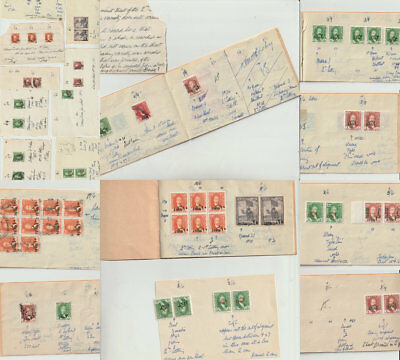 Iraq British occupation collection Errors on small pages with description. Very