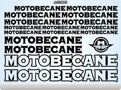 Motobecane Bicycle Handlebar Bar End Plug Stickers 6073 Decals