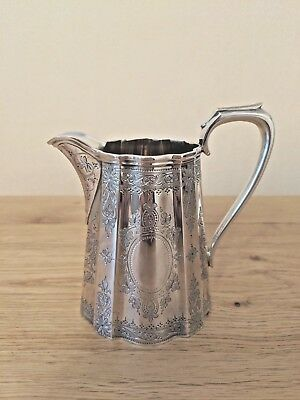 Solid Silver Antique Victorian Cream Jug