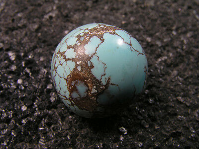 23.85ct 100% natural HuBei AAA loose spiderweb turquoise cabochon gemstone t1675