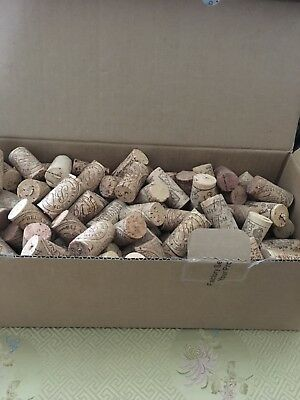200 used wine corks, all natural,  mix variety of logos