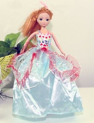 Handmade Party Dress Fashion Clothes For Barbie Doll Outfit Gown LBluep Wedding