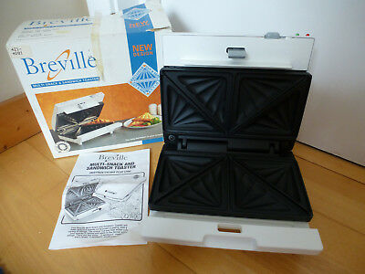 Vintage Breville Snack & Sandwich Toaster ~ New/Unused in Original Box