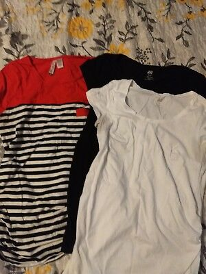 maternity shirts sm/md lot of HM and mom's the word, and Motherhood maternity