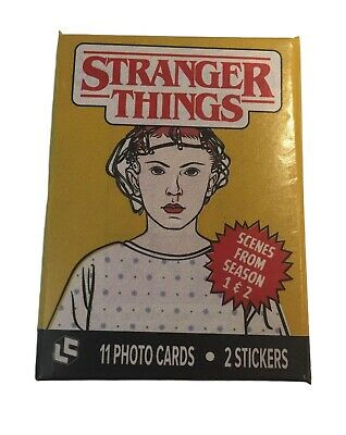 LOOT CRATE Stranger Things TRADING CARDS WAX PACK Photo Cards & 2 Stickers