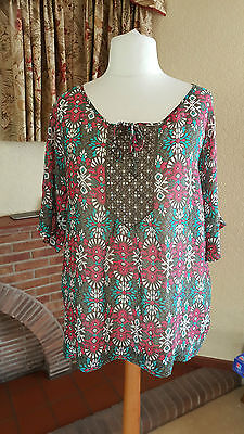 df01392d231 Green Multi Sequin Silk Kaftan Top By Monsoon Size 18 - Summer Cruise