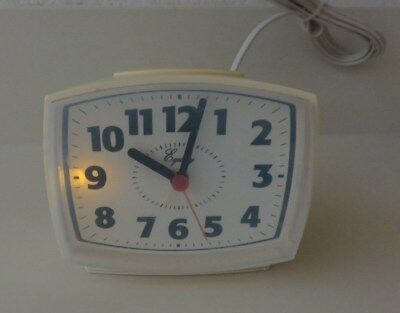 Retro Vtg Equity Analog Alarm Clock Electric #33100 Authentic Replacement parts