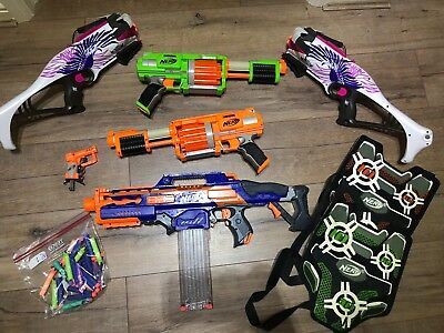 Nerf Gun Bundle With Bullets And Vests