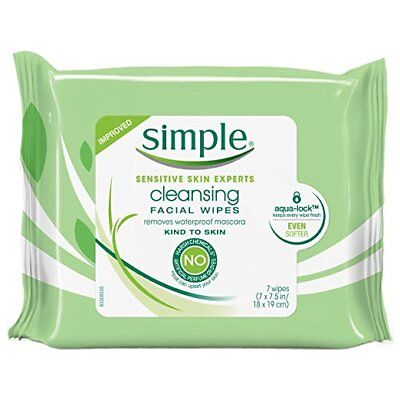 Simple Cleansing Facial Wipes, Kind to Skin 7 ct