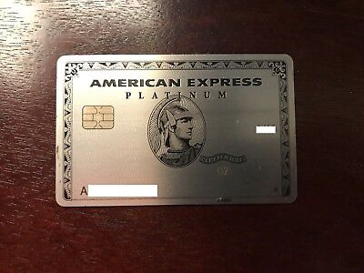 American Express Platinum Card with Chip, Expired, Used