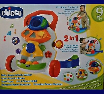 Chicco 2 in 1 Lauflernwagen & Spielcenter