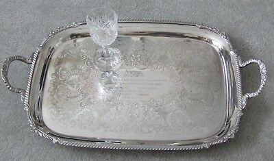 Antique Silver Plate Tray Large