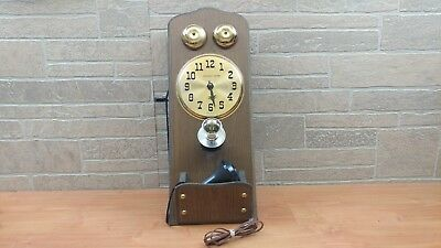 Vintage United Antique Phone Clock Model 927 Wall Clock Made in USA Parts Repair