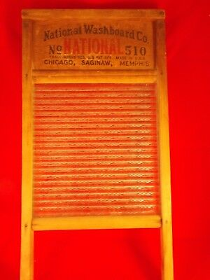 Antique National Atlantic No. 510 Glass Washboard