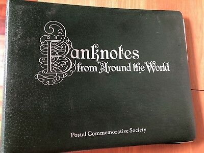 26 Banknotes from Around the World by Postal Commemorative Society