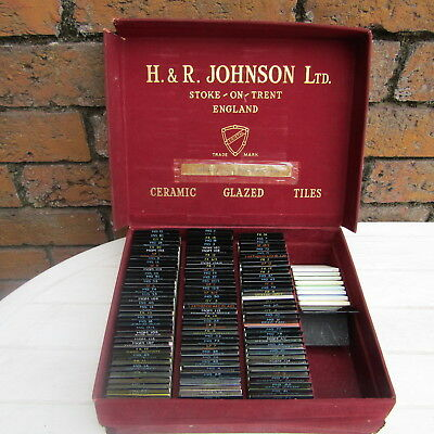 Vintage Miniature Ceramic Tiles (120)  Salesman Samples H & R Johnson Cristal