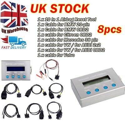 Universal 10 in 1 Oil Service Light Airbag Reset Tool OBD2 For BMW Audi VW SEAT~