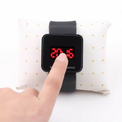 Colorful LED Digital Touch Screen Silicone Date Time Unisex Sport Wrist Watch SL