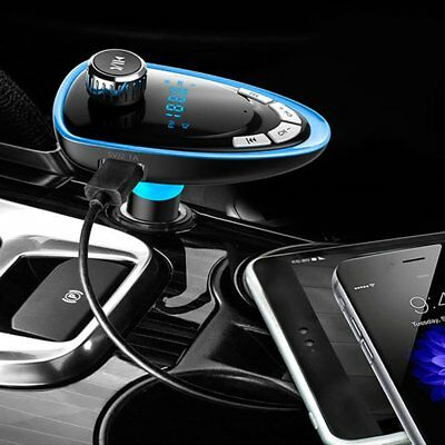 Car FM Transmitter Bluetooth Hands-free MP3 Player Radio Adapter Kit Charger PK