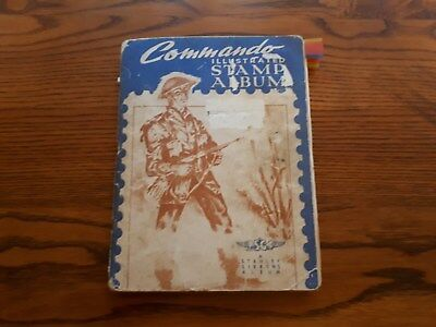 Old Commando Stamp Album:  World Collection-  1200 Old Stamps.