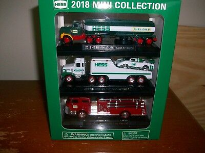 2018 Hess Miniature Toy Collection(New In Box)Working Lights/batteries Incl.