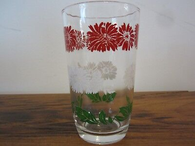 Vintage Bachelor Button Swanky Swig- Juice Glass- Retro Kitchen Collectible